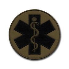 Paramedic Cross - Subdued Round Patch/Badge 3.5""
