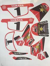 Sticker kit deco moto cross Yamaha PW50 PW 50 Red Origine Très Haute Qualité
