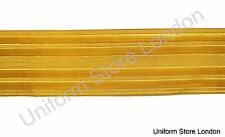 Braid Naval Gold Metal wire 45mm Naval Braid Sold as Cut Piece 30 CMS  R538CT