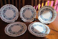 "Seven Sango Wild Country Drummer Boy 7 5/8"" Salad Plates ~ Red & Blue Floral"