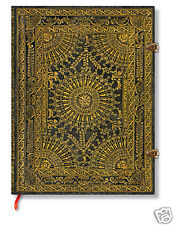"""Paperblanks Writing Journal Ultra Size Lined Ventaglio Marro Brown 7""""x9"""" NWT"""