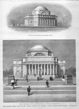 COLUMBIA COLLEGE UNIVERSITY HISTORY PROPOSED DESIGN FOR LIBRARY ARCHITECTURE