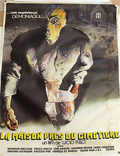 "Vintage 1981 French Movie Poster ""La Maison pres du cimetiere"" Cult Horror Film"