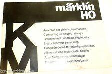 Anleitung Märklin Anschluß der elektrischen Bahnen K M 68 621 TNN 0284 ju    å