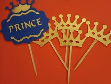 its a boy baby shower party royal prince theme Sign Plus 4 Crowns