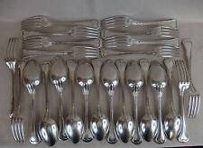 12 couverts de table christofle violoné / filet / fourchettes & cuillères