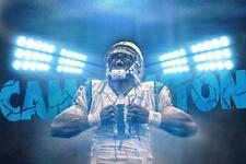 Carolina Panthers Cam Newton Poster 24x36 inch Banner Home Decor Art