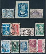 "1951 - 1962 Brazil ""COMMEMORATIVES & AIRMAILS"" CAT VALUE $11"