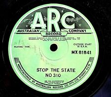 AUSTRALIAN RECORD COMPANY 78: STOP THE STATE NO 310, MX 81841 traffic safety