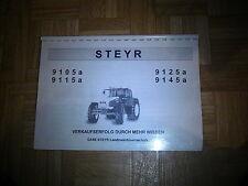 Original Verkäuferschulungsunterlage zu den Steyr 9105 a bis 9145 a Traktoren