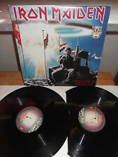 "Iron Maiden ‎""2 Minutes To Midnight · Aces High"" 2 LP EMI ITA 1990 - GATEFOLD"