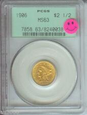 1906 $2.5 Liberty Gold Coin Pcgs Ms63 Ms-63 Old Green Holder Pq +