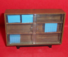 VINTAGE DOLLS HOUSE TRIANG BOOK CASE & BOOKS
