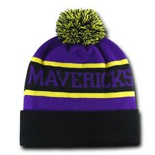 Minnesota State Mankato Mavericks University NCAA Winter Pom Cuff Beanie Cap Hat