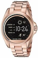 NIB Michael Kors Access Touch Screen Rose Gold Bradshaw Smartwatch MKT5004
