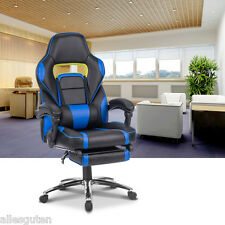 Executive Racing Gaming Office Chair High-Back Reclining Faux Leather Chair Task