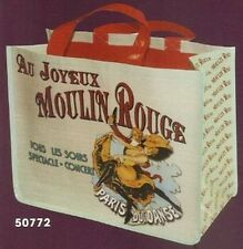FRENCH SHOPPING TOTE BAG Ambiance RETRO PUBBLICITARIO MOULIN ROUGE PARIGI