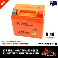 10 PCS YTX5L-BS GEL YTX5LBS 12V Motorbike 5AH Battery Replace MG5L-BS MBTZ7S