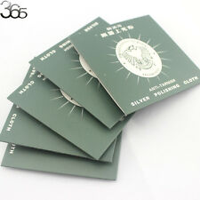 100pcs Jewelry Cleaning Polishing  Anti-Tarnish Cloth For Sterling Silver 8cm