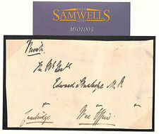 MS1003 GB ROYALTY AUTOGRAPH *Duke of Cambridge* Franked Free Front WAR OFFICE