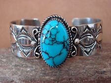 Native American Jewelry Nickel Silver Turquoise Bracelet Jackie Cleveland!