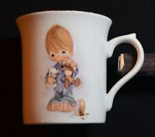 "1980 Enesco Precious Moments Mug Title "" Blessed Are The Peacemakers"" Gold Rim"