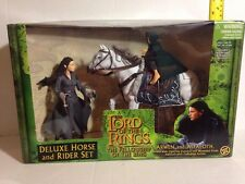 ARWEN & ASFALOTH FRODO DELUXE HORSE & RIDER LORD OF THE RINGS FELLOWSHIP OT RING