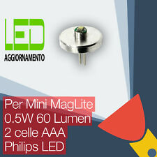 Mini MagLite LED Aggiornamento/Conversione lampadina Torcia 2AAA Cell Philips