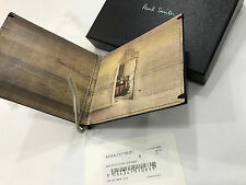 Paul Smith Money Clip WALLET MINI THE PORTRAIT Bi Fold 8x Credit / BusinessCard