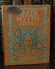 GREEK MYTHS by NATHANIEL HAWTHORNE Illustrated, Leatherbound & BRAND NEW!