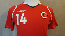 very rare NORWAY #14 STEFFEN IVERSEN Umbro Football Shirt Size: Small