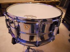 6.5 X 14 Ludwig Supraphonic snare drum, 80's, tone muffler, P86 Throw Off, NICE!