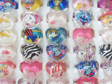 Wholesale mix Lots 20pcs Resin/Lucite Heart Pretty Kid's/child Cute Rings Free P