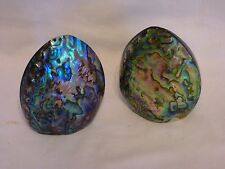 Pair of Vintage New Zealand Paua Shell/Abalone Salt and Pepper Shakers