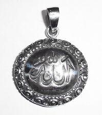 Anhänger Kette ALLAH Schriftzeichen Symbol ECHT 925 Silber ISLAM Moslem SS86