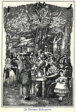 H. Steiner Prag In Kintschys Kaffeegarten Leipzig Kunstdruck von 1909