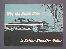 1951 Buick Sales Booklet Brochure Why the Buick Ride is Softer-Steadier...