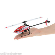 XK K120 2.4G 6CH 3D/6G Mode Brushless Motor RC Helicopter Aircraft Red EU PLUG