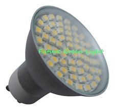 GU10 60 SMD LED 240V 3.5W 300LM WARM WHITE BULB WITH GLASS COVER ~50W