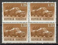 Indonesia 1964 Sc# 627 Trailer Truck block 4 MNH