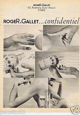 Publicité Advertising 106 1968 Roger & Gallet eau cologne mousse à raser savon