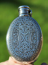 Antique tiffany & co argent massif hip flask (b)