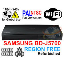 SAMSUNG BD-J5700 Region Free Blu-Ray Player & DVD for WorldWide Use, SMART, WiFi