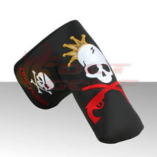Craftsman New Black King Skull Golf Putter Cover Headcover For Scotty Cameron