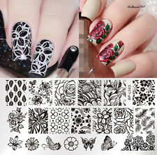 BORN PRETTY L043 Nail Art Stamping Image Plate Template Flower Butterfly Design