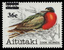 "AITUTAKI 298 (SG451) - Birds Provisional ""Great Frigate Bird"" (pa38972)"