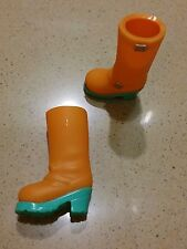 Blythe Used 1 pair x Original Accessories ( Orange )  Boots