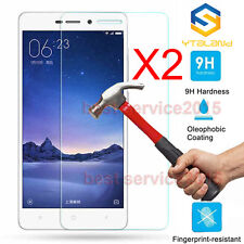 2Pcs 9H+ Tempered Glass Screen Protector For Xiaomi Redmi 3 / 3S / 3X / 3 Pro 5""