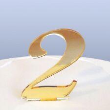 Numero 2 In Corsivo Bronzo Specchio Acrilico topper per torta Circa 6cm-4cm