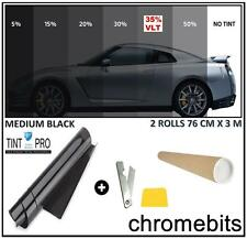 PRO ANTI-SCRATCH CAR WINDOW TINT FILM TINTING MEDIUM BLACK SMOKE 35% 76cm x 6M